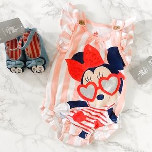 Disney Baby: Girl Onesie and Matching Shoes